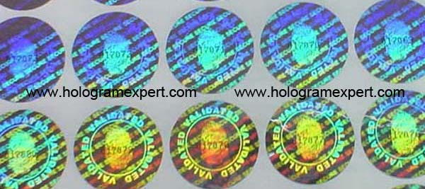 Security Holographic sticker